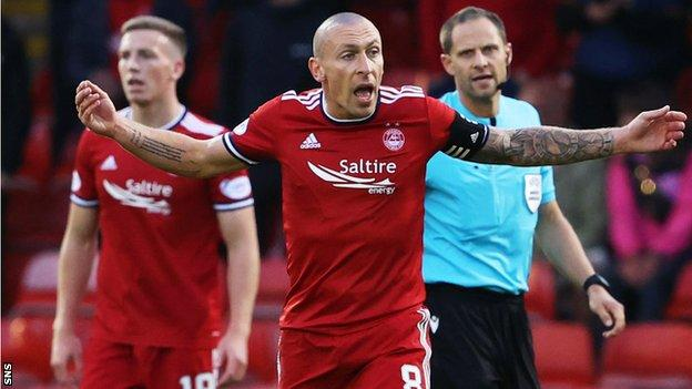 Celtic's former nine-in-a-row skipper Scott Brown is aiming to help Aberdeen to a first win in nine games