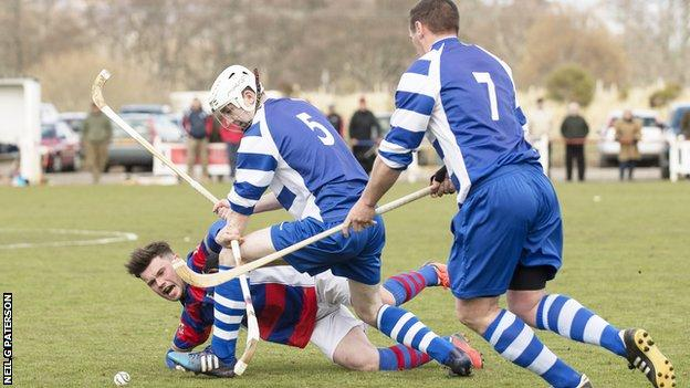 Newtonmore came from behind to progress in the MacAulay Cup