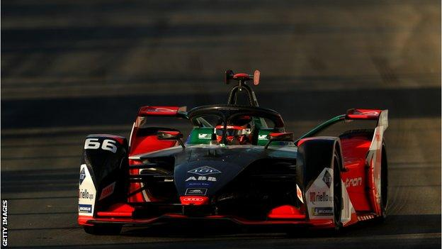 Daniel Abt driving a Formula E car