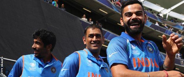 Since the start of 2016, Virat Kohli, right, has scored 1,005 ODI runs at an average of 91.36