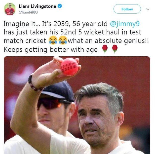Liam Livingstone tweet