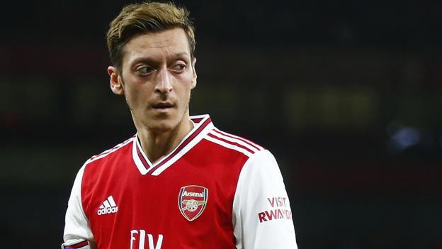 Mesut Ozil: Arsenal-Manchester City game removed from schedules by China state TV thumbnail