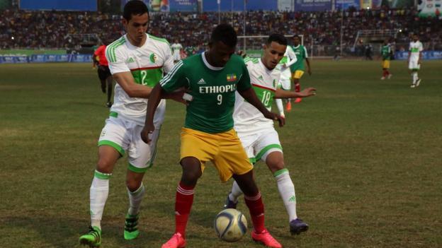 Ethiopia in action against Algeria in March