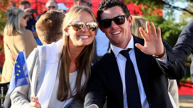 Rory McIlroy and his fiancé Erica Stoll
