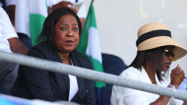 Fifa Secretary General Fatma Samoura (left)
