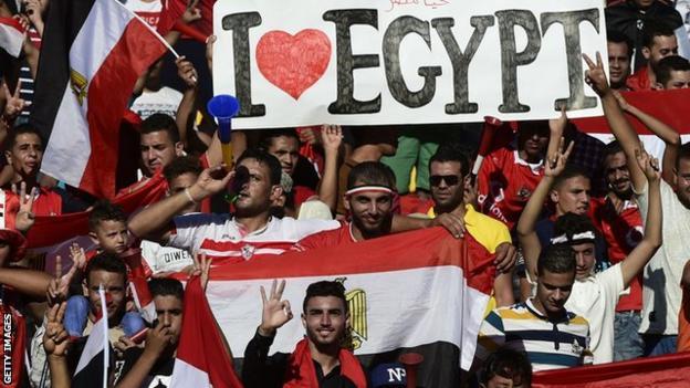 Egypt football fans