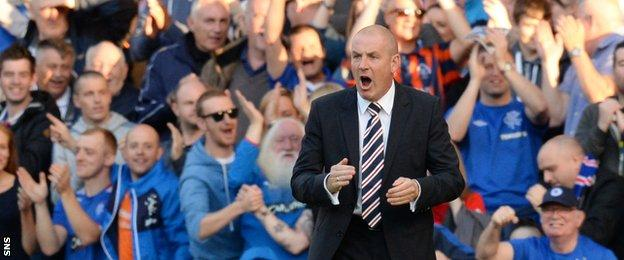 Rangers manager Mark Warburton now has three wins out of three since taking charge
