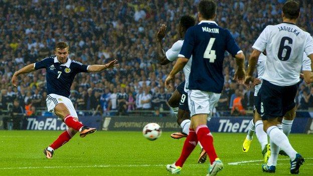 Scotland midfielder James Morrison