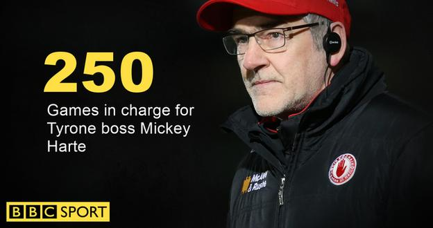 Mickey Harte has won 33 trophies during his 17 years in charge of the Red Hands