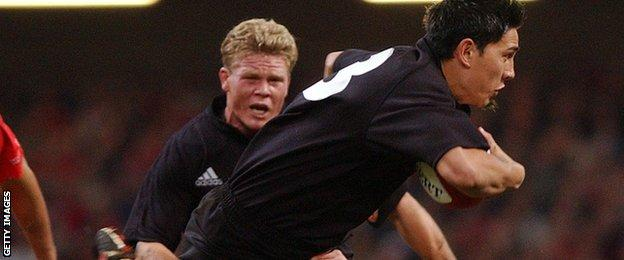 Regan King playing for the All Blacks