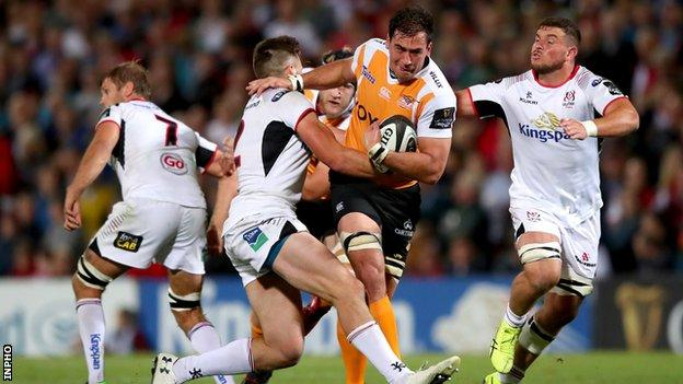 Henco Venter of the Cheetahs in action during his side's opening day defeat by Ulster