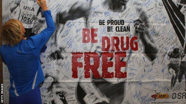 Anti-doping poster