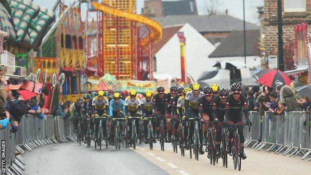 Tour de Yorkshire in Scarborough
