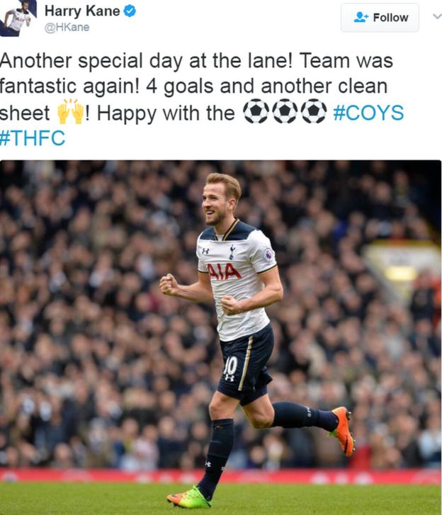 Harry Kane described Tottenham's 4-0 demolition of Stoke City as a 'special day'