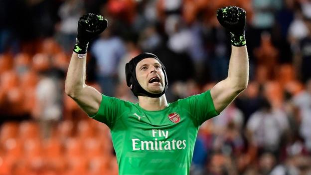 Arsenal qualify for Europa League final: Petr Cech says Chelsea game is dream end