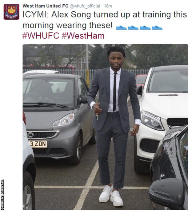 West Ham United midfielder Alex Song