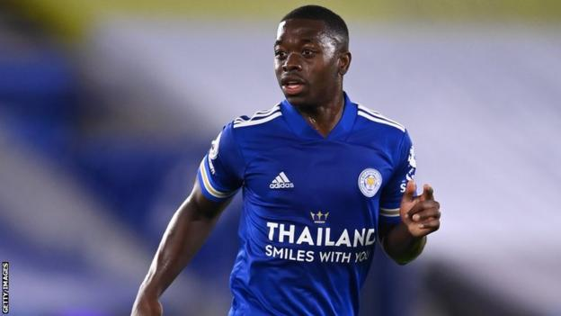 Nampalys Mendy in action for Leicester City