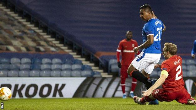 The striker scored the opener, was a constant menace, and over the two legs was involved in eight of Rangers' nine goals