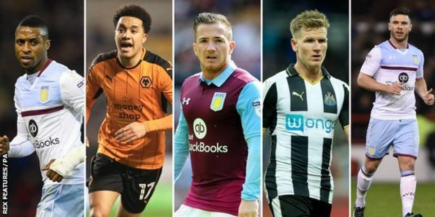 Jonathan Kodjia, Helder Costa, Ross McCormack, Matt Ritchie and Scott Hogan