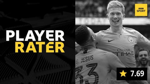 Manchester City's Kevin de Bruyne was voted man of the match in the FA Cup final