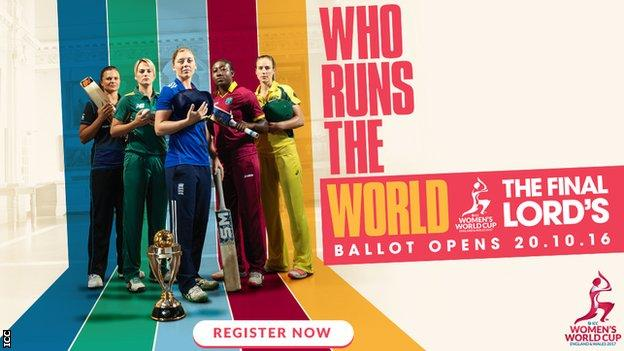 ICC Women's World Cup poster