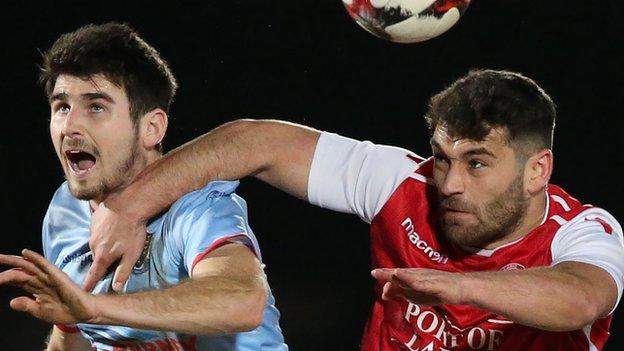 Larne beat Ballymena 2-1 in the quarter-finals