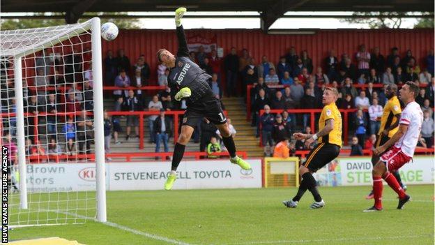 Stevenage v Newport action