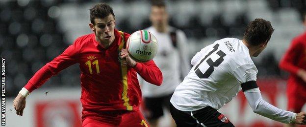 Gareth Bale in action against Austria in 2013