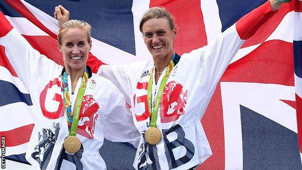 Helen Glover with Heather Stanning