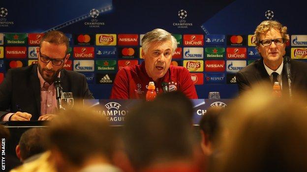 Stefano Mazzoletti (left) with Carlo Ancelotti