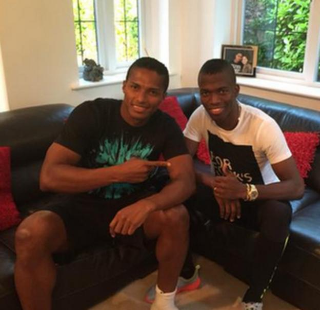 Enner Valencia (right) and Antonio Valencia