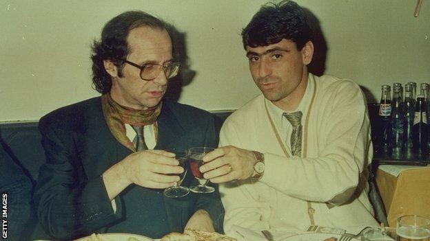 Fadil Vokrri and Ibrahim Rugova