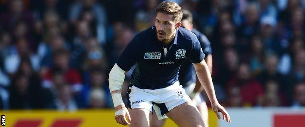 Henry Pyrgos captained Scotland at the start of the match
