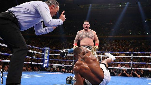 Ruiz Jr floored Joshua four times on his way to a seventh-round stoppage