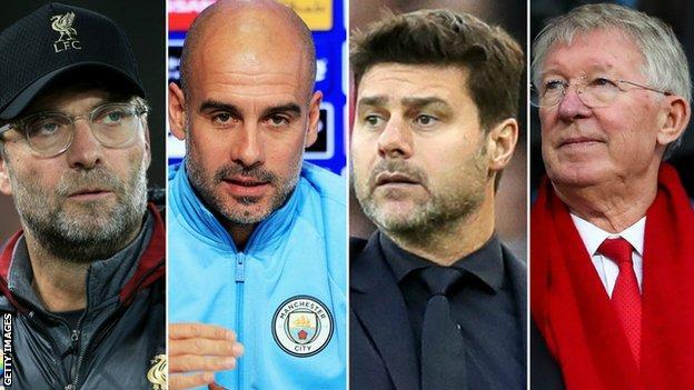 Jurgen Klopp, Pep Guardiola, Mauricio Pochettino and Sir Alex Ferguson