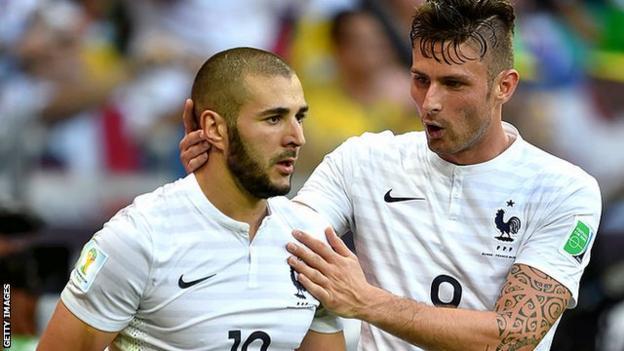 Karim Benzema and Olivier Giroud