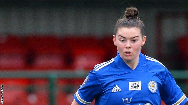 Natasha Flint helped Leicester become the first team outside of the top flight to reach the Women's Continental League Cup semi-final since 2016