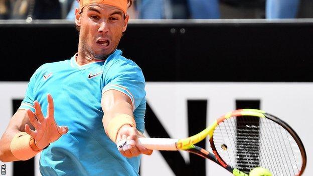 Rafael Nadal at the Italian Open