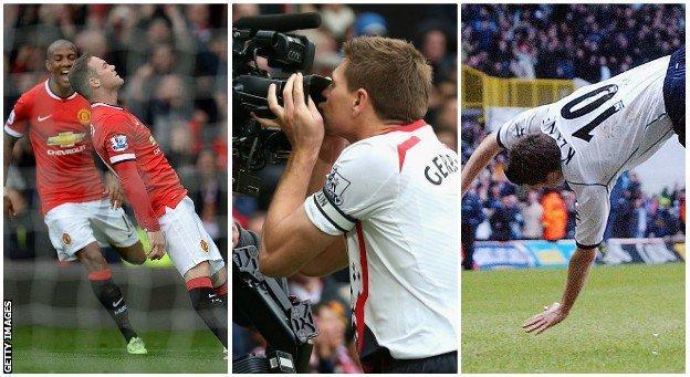 Wayne Rooney, Steven Gerrard amd Robbie Keane