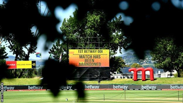 The first ODI between South Africa and England was postponed on Sunday morning