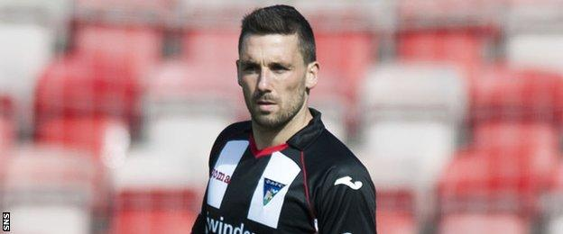 Dunfermline striker Nicky Clark