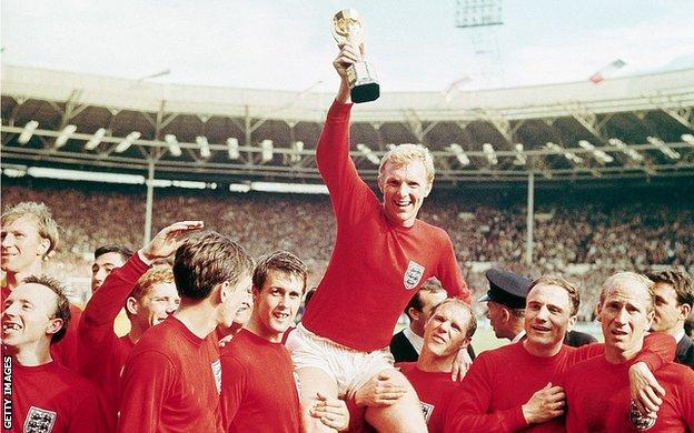 England celebrate winning the 1966 World Cup