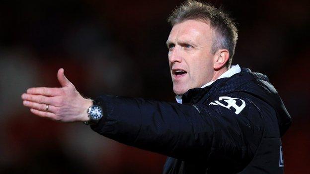 Crewe manager Steve Davis