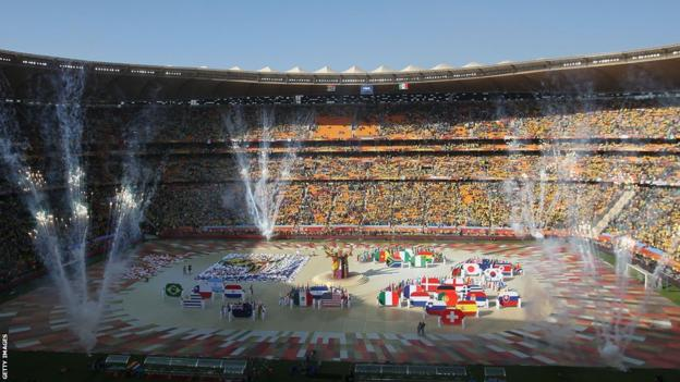 The opening ceremony of the 2010 World Cup in South Africa