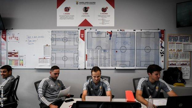 Coaches at Benfica's academy