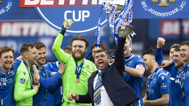 St Johnstone have won the League Cup and secured a top-six finish in Callum Davidson's debut season as a a manager