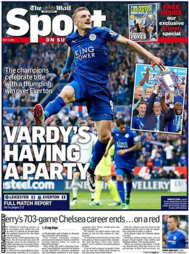 Mail on Sunday back page