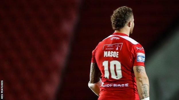 Hull KR's Korbin Sims wore a shirt honouring his former team-mate