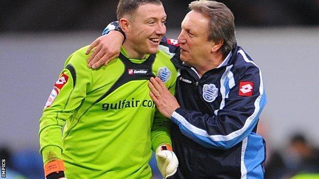 Paddy Kenny and Neil Warnock