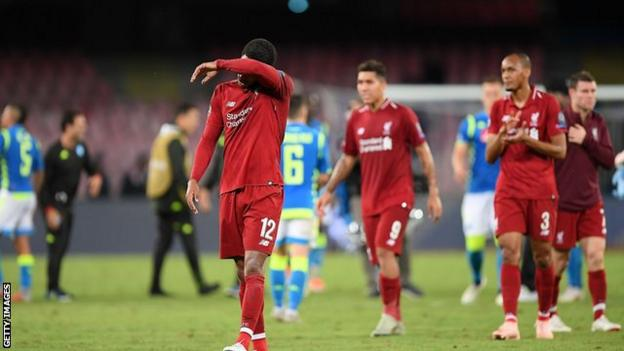 Liverpool players react to defeat